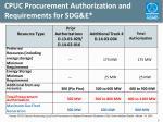 cpuc procurement authorization and requirements for sdg e