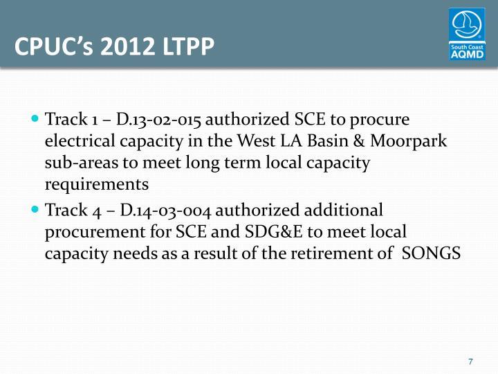 CPUC's 2012 LTPP