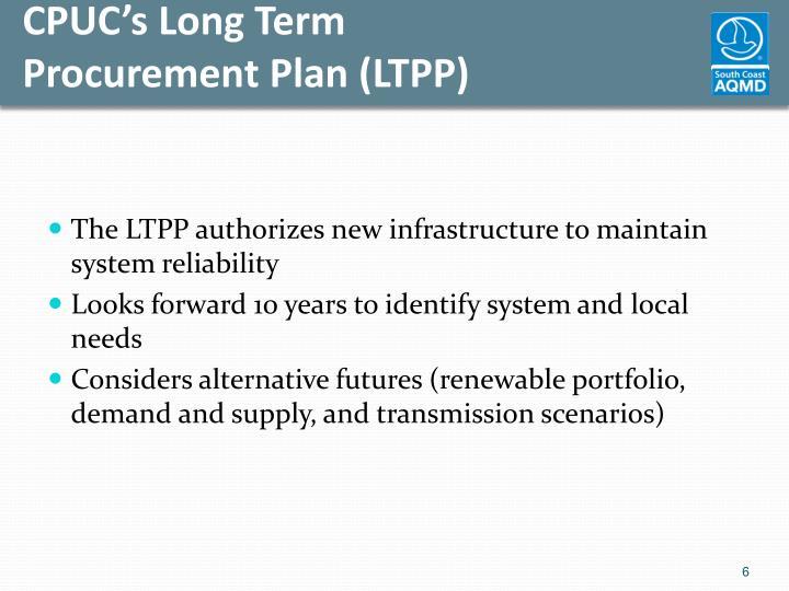 CPUC's Long Term