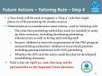 future actions tailoring rule step 4