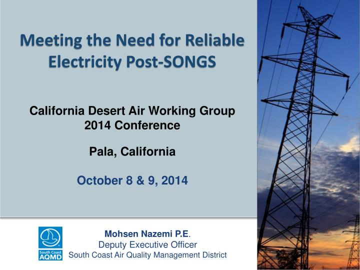 Meeting the need for reliable electricity post songs