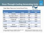 once through cooling generating units