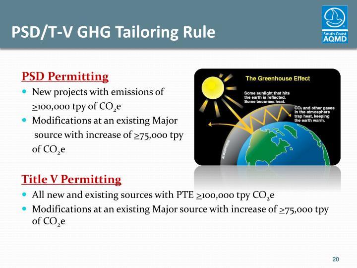 PSD/T-V GHG Tailoring Rule