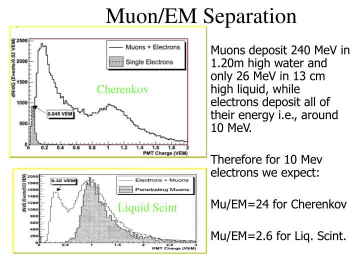 Muon/EM Separation