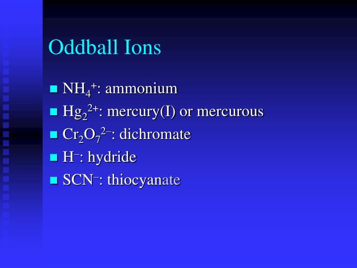 Oddball Ions