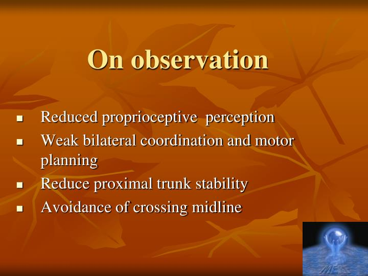 On observation