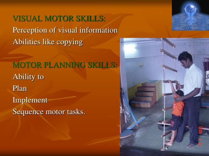 VISUAL MOTOR SKILLS: