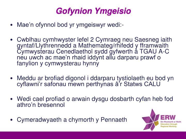 Gofynion