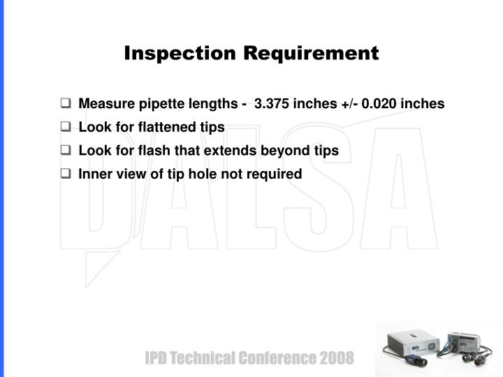 Inspection Requirement