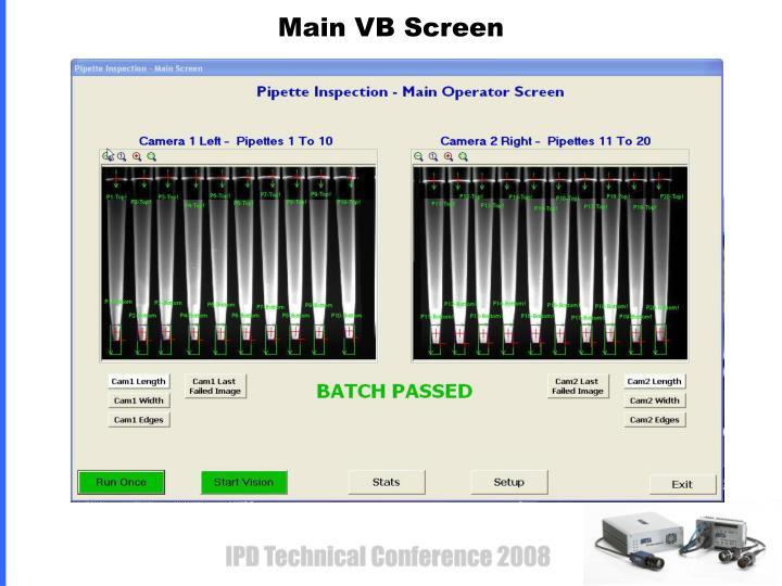 Main VB Screen