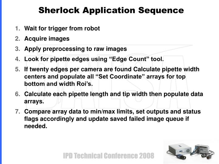Sherlock Application Sequence