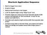 sherlock application sequence