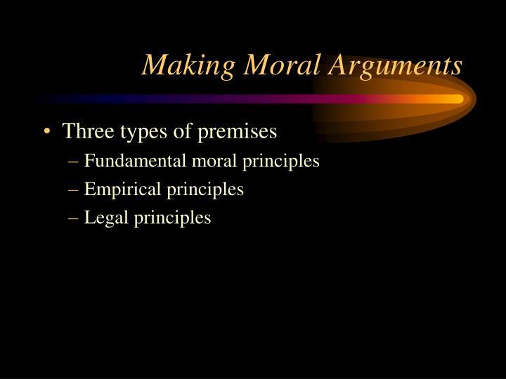 Making Moral Arguments