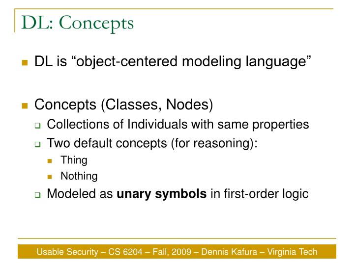 DL: Concepts