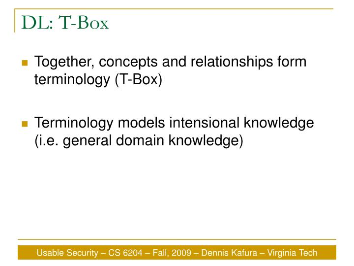 DL: T-Box