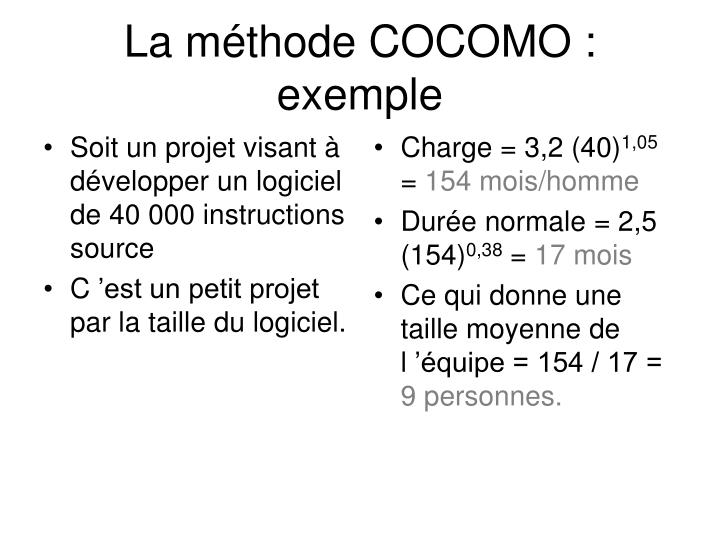 Soit un projet visant à développer un logiciel de 40 000 instructions source