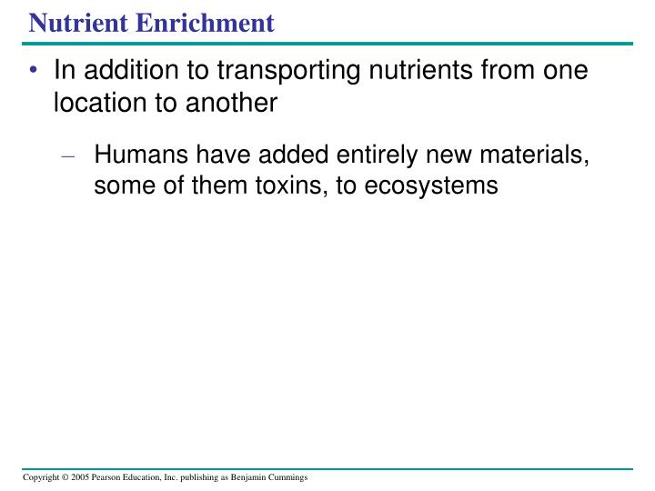 Nutrient Enrichment