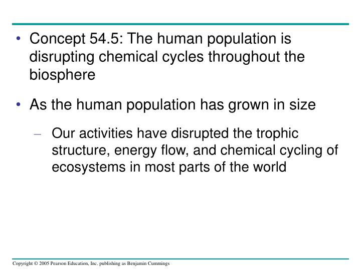 Concept 54.5: The human population is disrupting chemical cycles throughout the biosphere