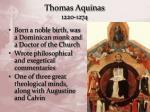 thomas aquinas 1220 1274