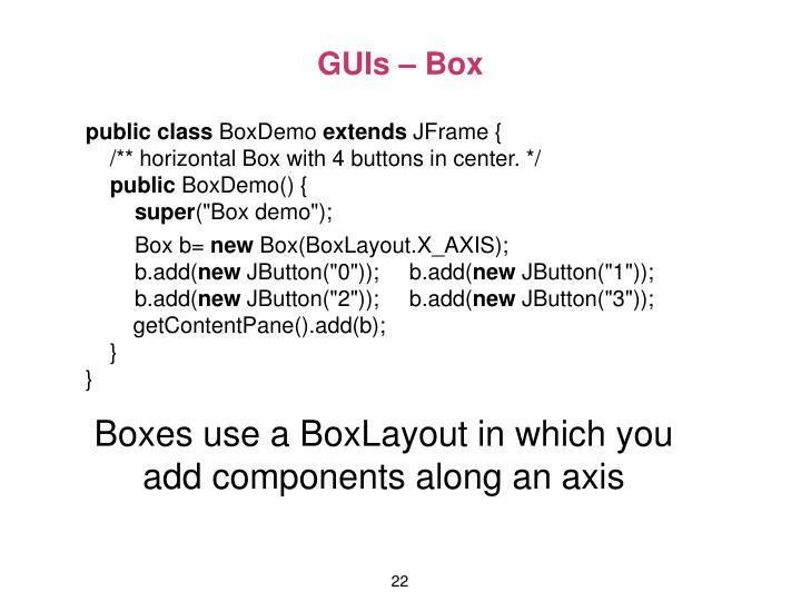GUIs – Box
