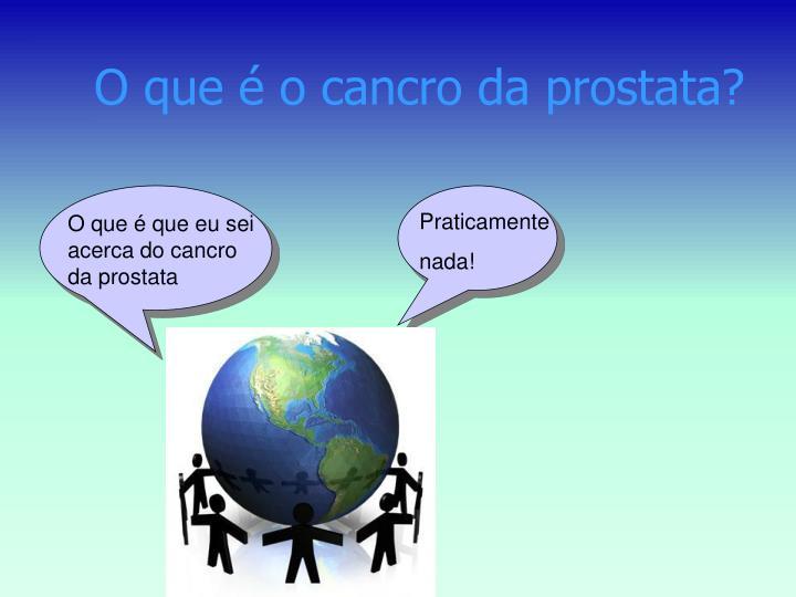 O que é o cancro da prostata?