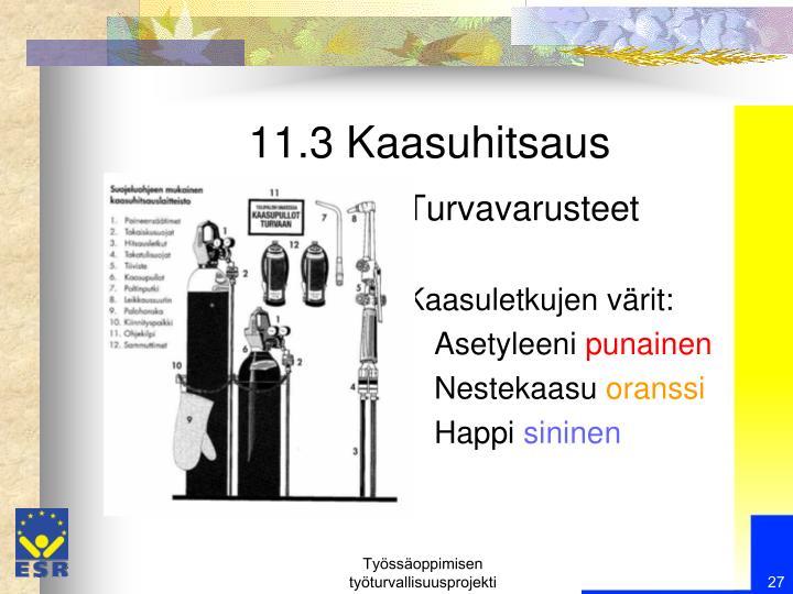 11.3 Kaasuhitsaus