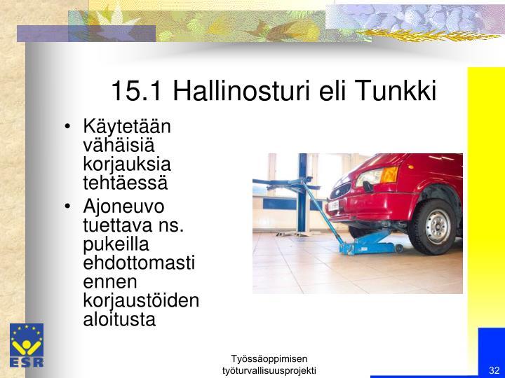 15.1 Hallinosturi eli Tunkki