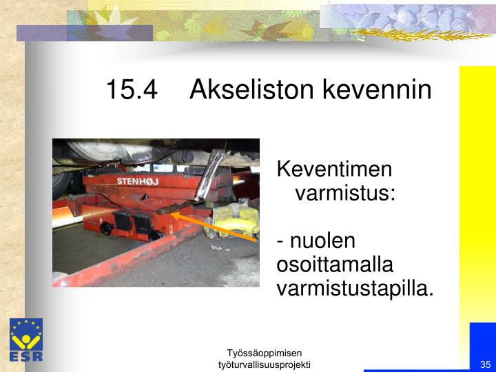 15.4    Akseliston kevennin