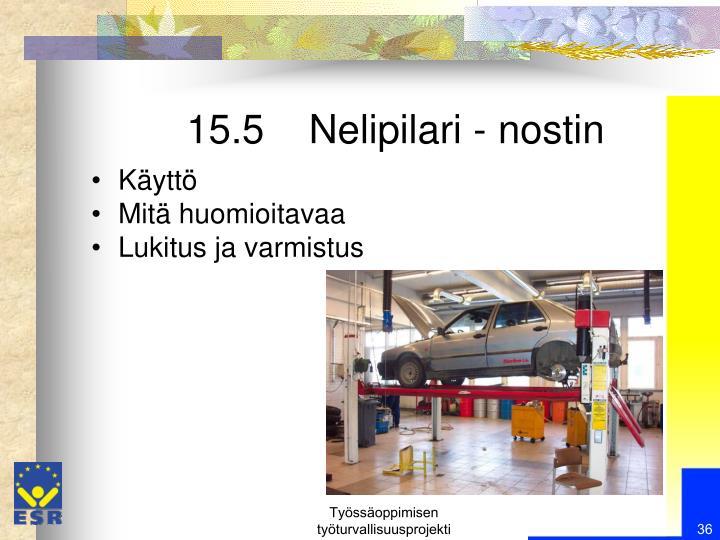 15.5    Nelipilari - nostin