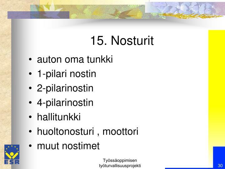 15. Nosturit