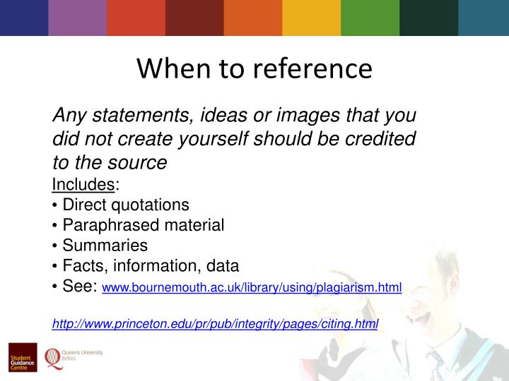 When to reference