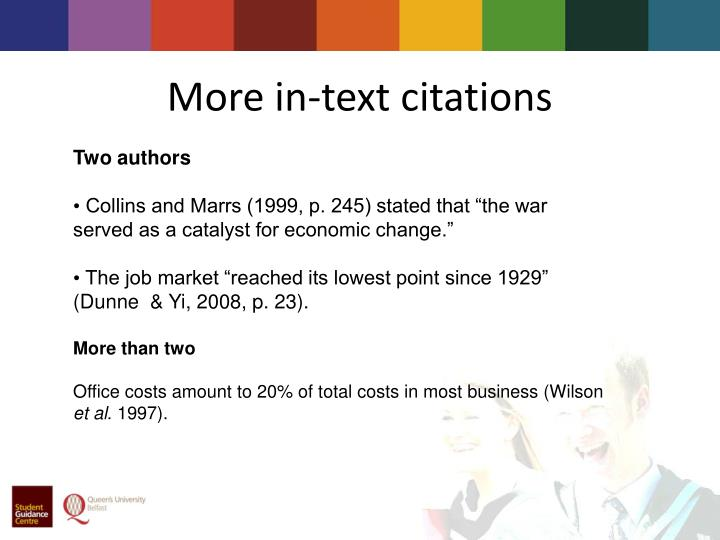 More in-text citations