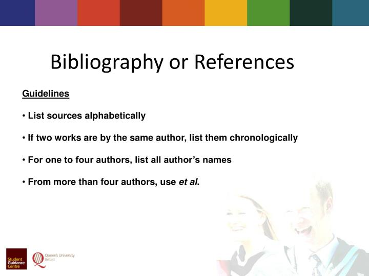 Bibliography or References
