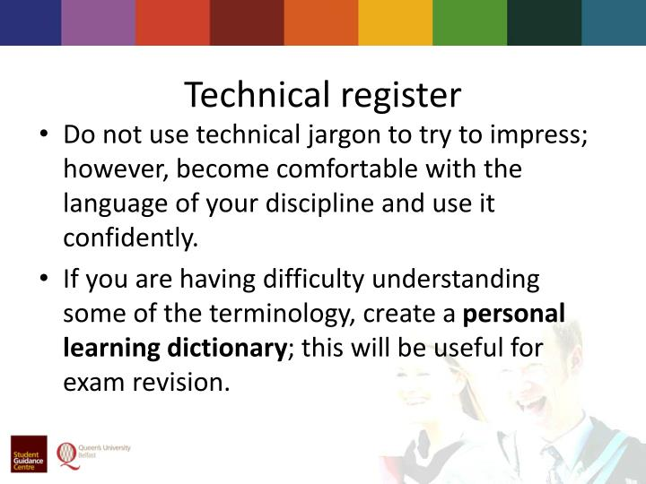 Technical register
