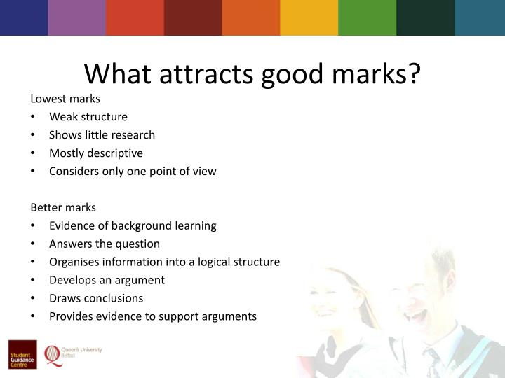 What attracts good marks?