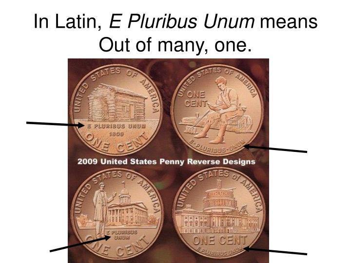 In Latin,