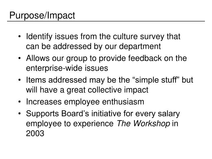 Purpose/Impact
