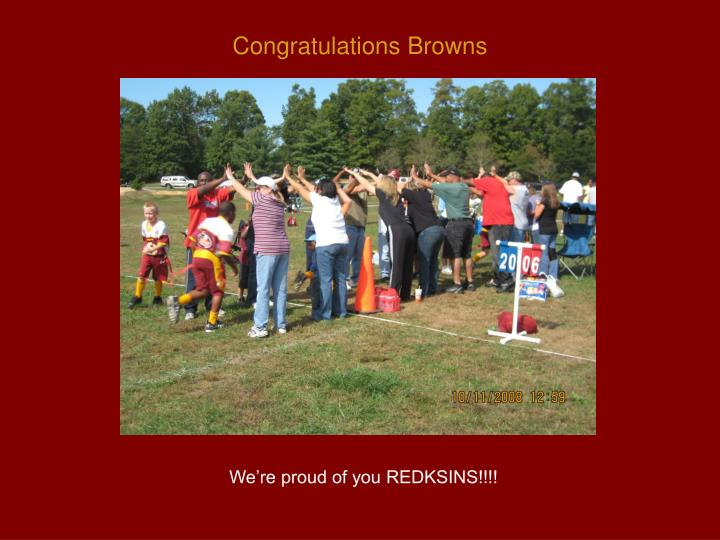 Congratulations Browns