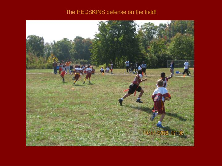 The REDSKINS defense on the field!