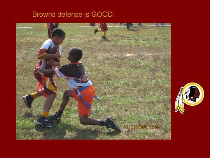 Browns defense is GOOD!