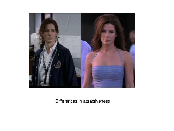 Differences in attractiveness