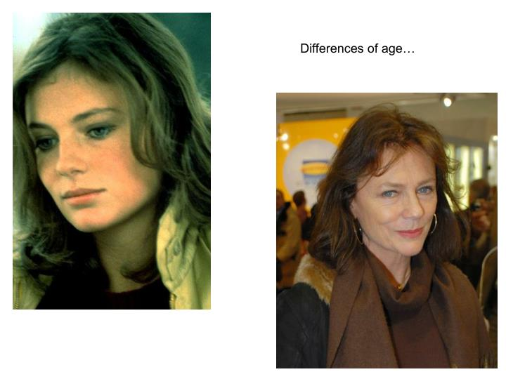 Differences of age…