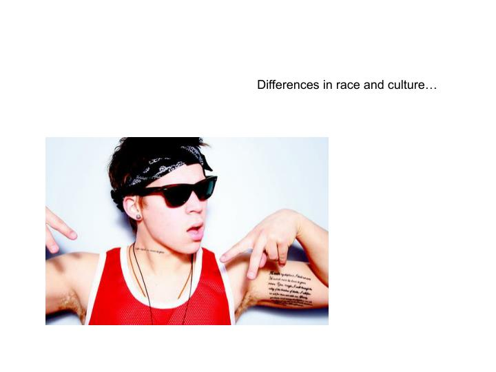 Differences in race and culture…