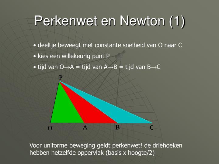 Perkenwet en Newton (1)