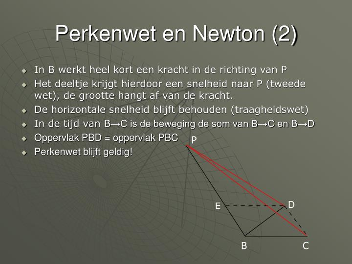 Perkenwet en Newton (2)