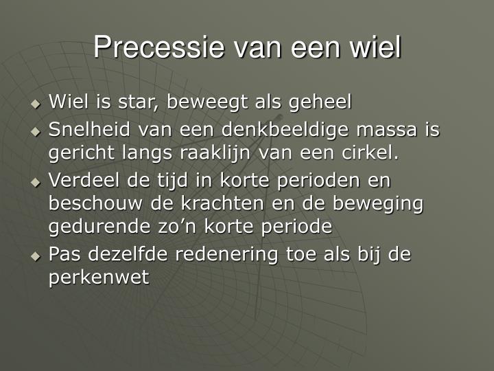 Precessie van een wiel