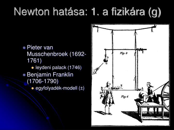 Newton hatása: 1. a fizikára (g)