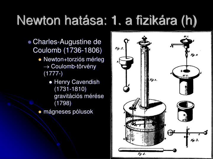 Newton hatása: 1. a fizikára (h)