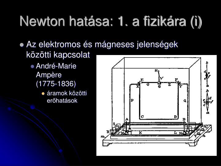 Newton hatása: 1. a fizikára (i)
