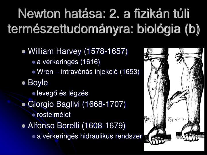 Newton hatása: 2. a fizikán túli természettudományra: biológia (b)